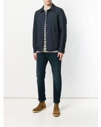 Chaqueta estilo camisa azul marino de Woolrich