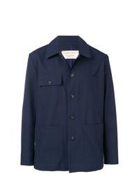 Chaqueta estilo camisa azul marino de MAISON KITSUNÉ