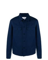Chaqueta estilo camisa azul marino de Maison Margiela