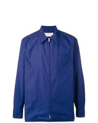 Chaqueta estilo camisa azul marino de Marni
