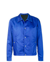 Chaqueta estilo camisa azul de AMI Alexandre Mattiussi