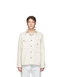Chaqueta estilo camisa blanca de Acne Studios