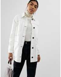 Chaqueta estilo camisa blanca de ASOS DESIGN