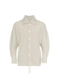 Chaqueta estilo camisa blanca de Homme Plissé Issey Miyake