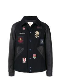 Chaqueta estilo camisa bordada azul marino de Kent & Curwen