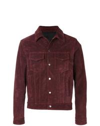 Chaqueta estilo camisa burdeos de AMI Alexandre Mattiussi
