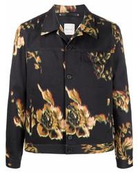 Chaqueta estilo camisa con print de flores negra de Paul Smith