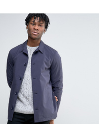 Chaqueta estilo camisa de algodón azul marino