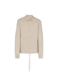 Chaqueta estilo camisa de algodón en beige de Rick Owens DRKSHDW