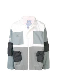 Chaqueta estilo camisa de algodón estampada gris de C2h4