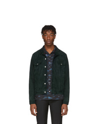 Chaqueta estilo camisa de ante verde oscuro de Paul Smith