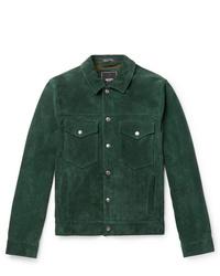 Chaqueta estilo camisa de ante verde oscuro de Todd Snyder