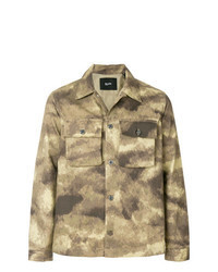 Chaqueta estilo camisa de camuflaje marrón claro