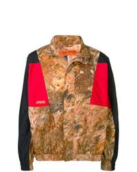 Chaqueta estilo camisa de camuflaje marrón de Heron Preston