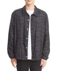 Chaqueta estilo camisa de camuflaje negra