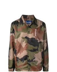 Chaqueta estilo camisa de camuflaje verde oliva de Études