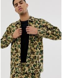 Chaqueta estilo camisa de camuflaje verde oliva de Dickies