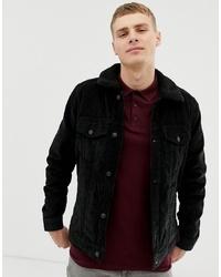 Chaqueta estilo camisa de forro polar negra de Hollister