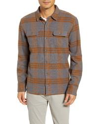 Chaqueta estilo camisa de franela de tartán en multicolor
