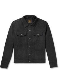 Chaqueta estilo camisa de lana en gris oscuro de Golden Bear