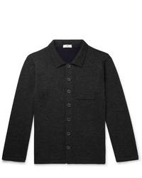 Chaqueta estilo camisa de lana en gris oscuro de Inis Meáin