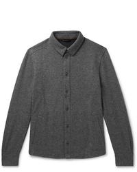 Chaqueta estilo camisa de lana en gris oscuro de Loro Piana