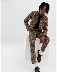 Chaqueta estilo camisa de leopardo marrón de ASOS DESIGN