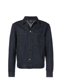 Chaqueta estilo camisa de lino azul marino de A.P.C.