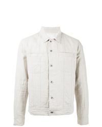 Chaqueta estilo camisa de lino blanca