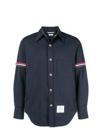 Chaqueta estilo camisa de nylon azul marino de Thom Browne