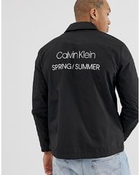 Chaqueta estilo camisa de nylon negra de Calvin Klein