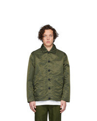 Chaqueta estilo camisa de nylon verde oliva de Goodfight