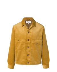 Chaqueta estilo camisa de pana amarilla de YMC