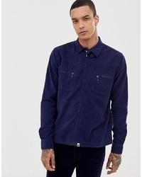 Chaqueta estilo camisa de pana azul marino de Pretty Green