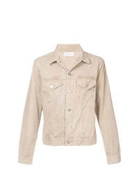 Chaqueta estilo camisa de pana en beige