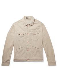 Chaqueta estilo camisa de pana en beige de Isabel Marant