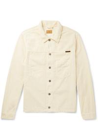 Chaqueta estilo camisa de pana en beige de Nudie Jeans