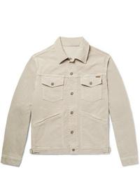 Chaqueta estilo camisa de pana en beige de Tom Ford