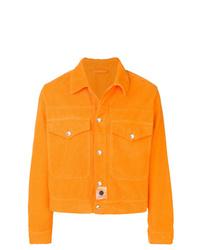 Chaqueta estilo camisa de pana naranja de Kenzo