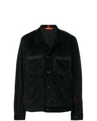 Chaqueta estilo camisa de pana negra de Komakino