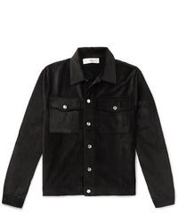 Chaqueta estilo camisa de pana negra de Séfr