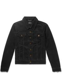 Chaqueta estilo camisa de pana negra de Saint Laurent