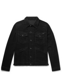 Chaqueta estilo camisa de pana negra de Tom Ford