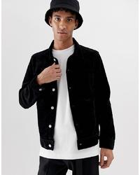 Chaqueta estilo camisa de pana negra de Weekday