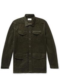 Chaqueta estilo camisa de pana verde oliva de Oliver Spencer