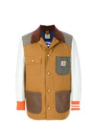 Chaqueta estilo camisa de patchwork en multicolor de Junya Watanabe MAN