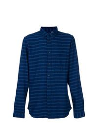 Chaqueta estilo camisa de rayas horizontales azul marino de Levi's