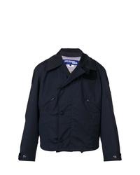 Chaqueta estilo camisa de rayas verticales azul marino de Junya Watanabe MAN