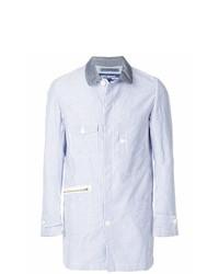 Chaqueta estilo camisa de rayas verticales celeste de Junya Watanabe MAN