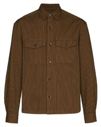 Chaqueta estilo camisa de rayas verticales marrón de Kenzo
